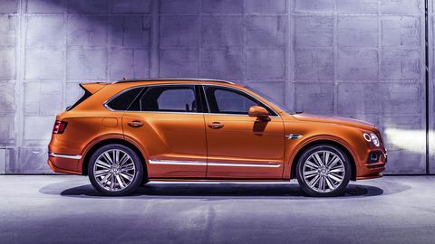 The Bentayga Speed dials the power up to 626 hp, delivering quicker launch times and a higher top speed.