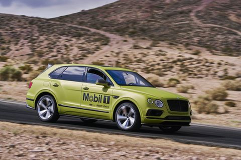 "We got a ride on the track in Rhys Millen's mostly stock Bentley Bentayga, the SUV in which he'll try to break the stock SUV record at Pikes Peak this year. Millen says he should knock ""a minute"" off the record. Don't get cocky, kid!"