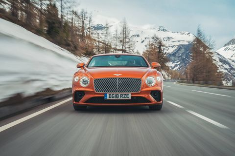 Outside and inside the 2019 Bentley Continental GT. The attention to detail, from the headlights to the knurled knobs inside, really jumps out at you.
