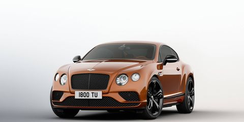Bentley's fastest production car gets seven more hp and a Black edition for 2017.