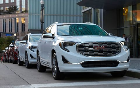 The 2018 GMC Terrain sports a floating roof, enough space for a camping trip and a new style of gear selector.