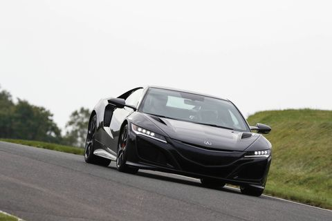 The 2019 Acura NSX in black, lapping its own personal Nurburgring in Northern Japan. Its called The Winding Course