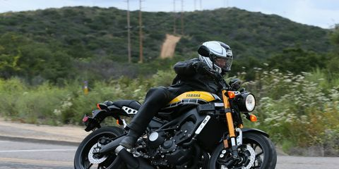"""The Yamaha XSR900 takes the FZ-09, stiffens up the suspension and adds some realistic """"sport heritage"""" styling cues to create a new and exciting motorcycle for $9490. You also get ABS and three-mode traction control."""