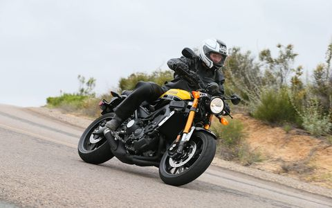 "The Yamaha XSR900 takes the FZ-09, stiffens up the suspension and adds some realistic ""sport heritage"" styling cues to create a new and exciting motorcycle for $9490. You also get ABS and three-mode traction control."
