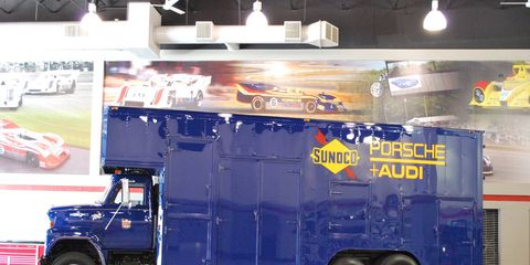 The transporter that carried Team Penske's first Indy 500 winner is restored.