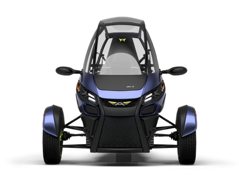 Arcimoto plans to offer this tandem three-wheeler by the end of the year. It comes in open form, with doors  or as a panel delivery. Price starts at $12,000.