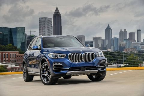the 2019 bmw x5 offers an off road package for the first time featuring the m sport differential, air suspension, off road drive modes, skid plates and the special off road interface for the central display