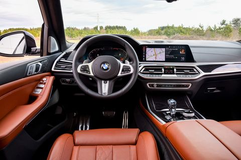 The big and spacious, three-row interior of the 2019 BMW X7 xDrive50i