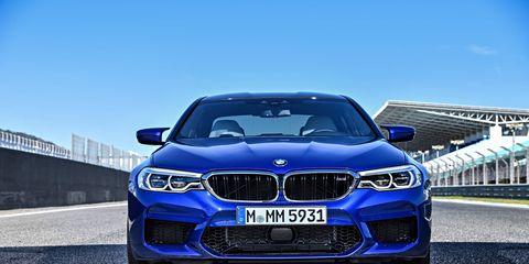 2018 BMW M5 parked at Estoril