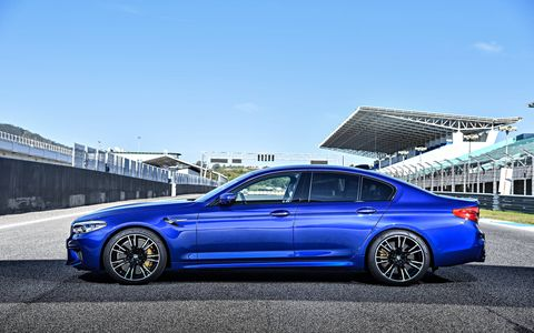 2018 BMW M5 parked at Estoril