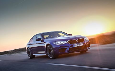 2018 BMW M5 Driving on the Road