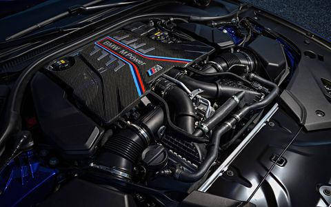 2018 BMW M5 engine bay