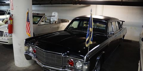 Nixon's 1967 Lincoln. The Feds added the front clip from a '69 to save the cost of re-armoring an all-new car.
