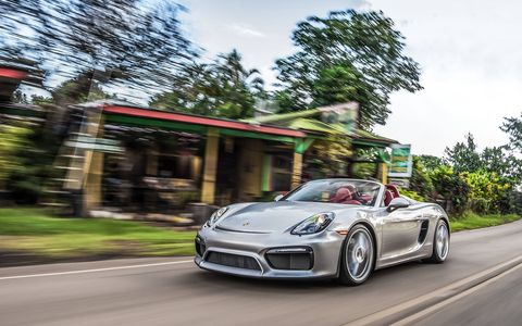 We drive the 2016 Porsche Boxster Spyder, which packs the 3.8-liter six from the 911 Carrera S into the automaker's lightest sports car -- with predictably incredible results.