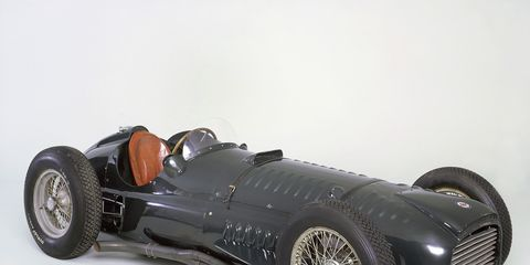 This was the first BRM to turn a wheel in anger on a race track. It was powered by a 1.5-liter supercharged V16 engine. It'll be at Retromobile Feb. 6-10.