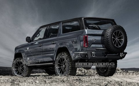 The rugged and tough renderings of the four-door Ford Bronco don't disappoint.