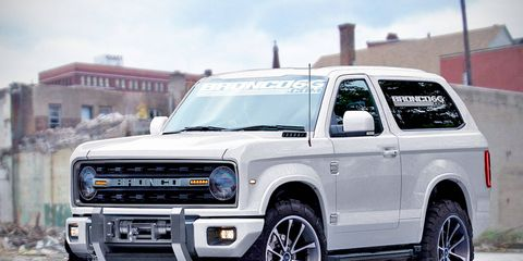 The Bronco, as imagined in this rendering by the forum Bronco6G, will be based on the next-gen Ford Ranger global truck platform.