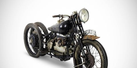 This 1938 Brough Superior 750cc BS4 was one of eight motorcycles found last year in a remote village.