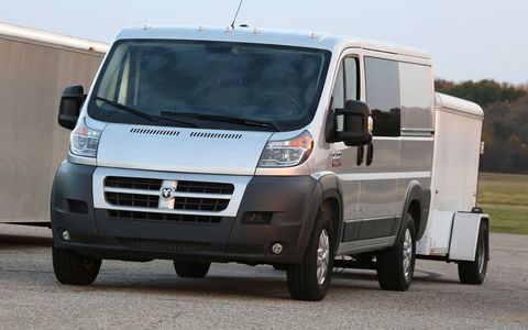 The gasoline 3.6-liter's modest 280-hp, 260 lb-ft output has no trouble getting the van to expressway speeds.