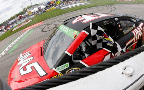 Kurt Busch won at Richmond on Sunday to clinch his spot in NASCAR's postseason.