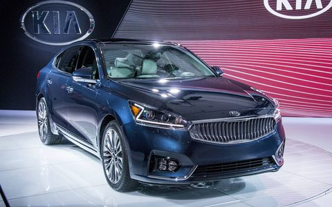 The 2017 Kia Cadenza made its debut at the New York auto show.