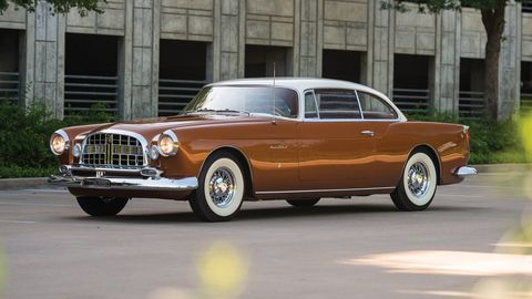 This Ghia-built Chrysler coupe is an interesting mix of Chrysler design elements of the day with a touch of Italian themes.