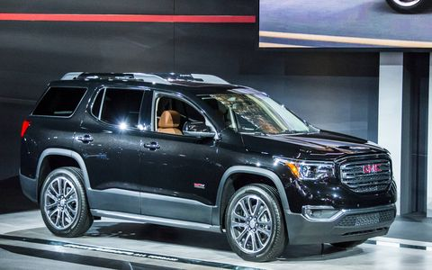 The redesigned 2017 Acadia made its debut at the Detroit auto show in January.
