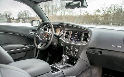 The Charger offers a reasonably roomy interior, competing in a segment far smaller than it used to be.