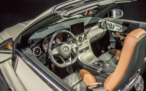 The Mercedes-AMG C63 Cabrio made its debut at the New York auto show.