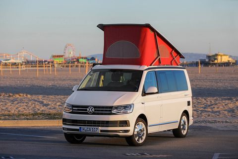 The Volkswagen T6 California van is fantastic -- but not for sale in the U.S. at any price. Converting the European-spec price from Euros to dollars results in a $110,000 sticker. But VW will never, ever offer this for sale in the U.S. so quit dreamin'.