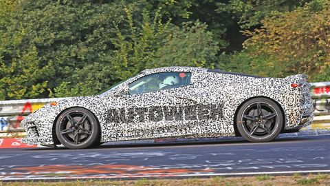 This is our best view yet of the bodywork on the forthcoming C8 Chevrolet Corvette.