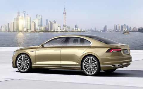 The 2015 Volkswagen C Coupe GTE concept sedan made its debut at the Shanghai auto show during the fourth week of April.