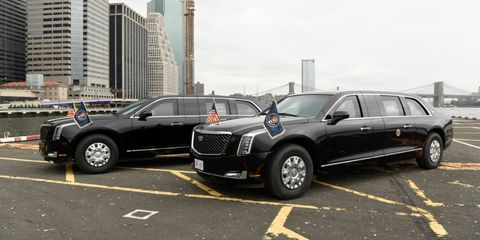 The 2018 Cadillac presidential limousine was first spotted in Washington, D.C. over a week ago, but will make its first major public appearance in NYC during UN week.