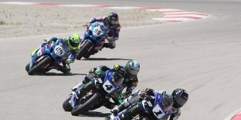 Cameron Beaubier puts his Yamaha in the lead in Utah.