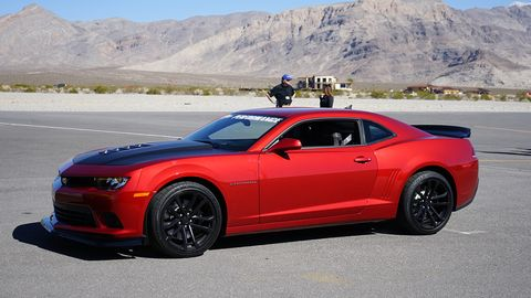 This is the Ultimate Track Camaro SS, which gets a Z/28 aero kit, an LS3 head and cam upgrade, and the Z/28 suspension consisting of fancy DSSV dampers, higher-rate springs, solid sway bars, and higher-rate suspension bushings.
