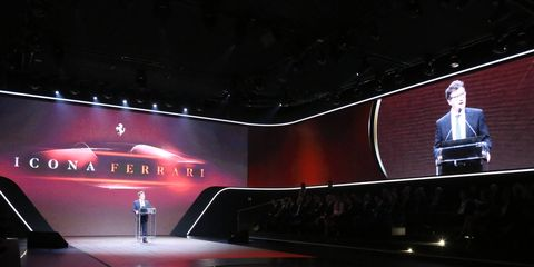 Ferrari revealed the new Monza SP1 and SP2 at an event at the company's factory in Maranello, Italy.