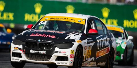 Tyler Clary helped drive the BimmerWorld Racing BMW 328i to 14th place in class at Daytona.