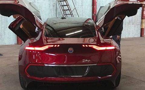 The Fisker EMotion EV has over 400 miles of range and is being shown at CES 2018.