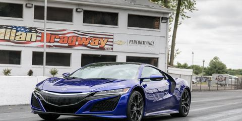 2017 Acura NSX at Milan Dragstrip to test its launch control