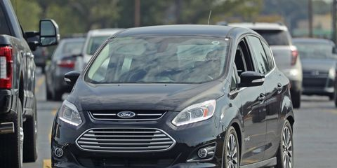 The 2017 Ford C-Max was seen running around wearing nothing at all.