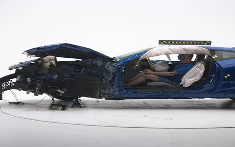 The IIHS tested the Ford Mustang, Chevy Camaro and Dodge Challenger in small overlap crashes.