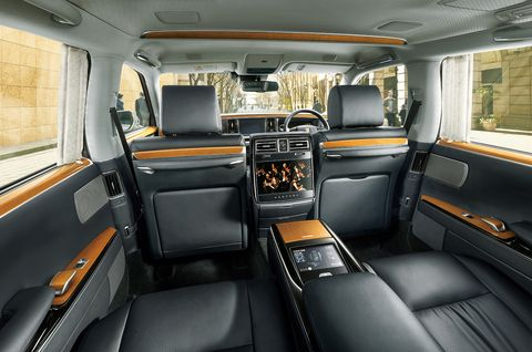 The interior of the Toyota Century is a combination of classic touches and modern amenities.