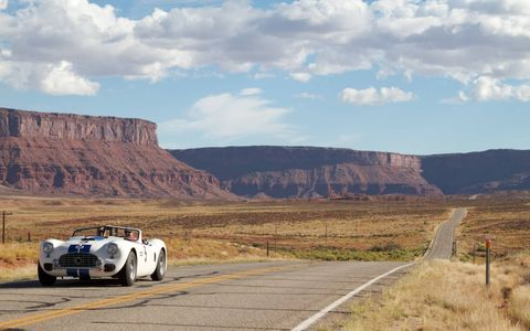 Last month was the 28th running of the Colorado Grand, a splendid five-day road rally 1012 miles long through one of the most spectacular states in the Union. This year the route meandered all over not only Colorado but also a little bit outside of it - including lunch in Moab, Utah. The 95 cars included everything from Alfas to Zagatos. There was even a Scarab!