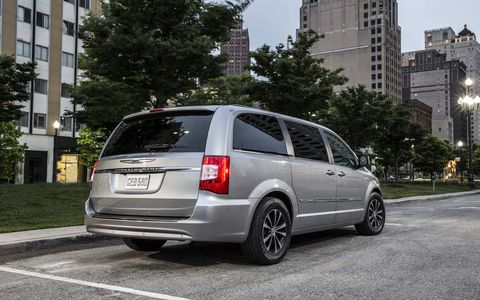 The Chrysler Town & Country available with the ParkView Rear Back Up Camera.