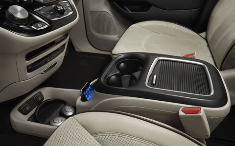 The new Chrysler Pacifica minivan gets loads of interior storage, along with extensive comfort, convenience and infotainment features.