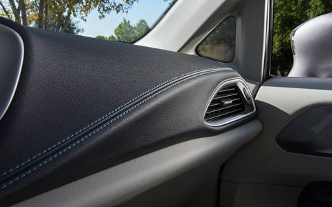 The 2017 Chrysler Pacifica Hybrid features as standard the Uconnect 8.4 system with an 8.4-inch touchscreen, available navigation, integrated voice command and Uconnect Access, which keeps drivers and passengers connected with helpful information, such as fuel prices and movie listings.