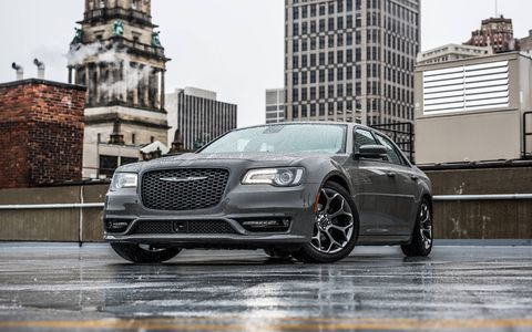 The 2018 Chrysler 300S comes standard with a 300-hp V6, upgraded models get a 363-hp Hemi V8.