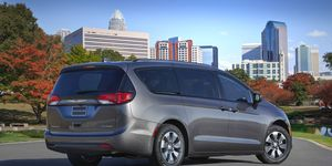 The 2018 Chrysler Pacifica Hybrid gets 84 mpge.