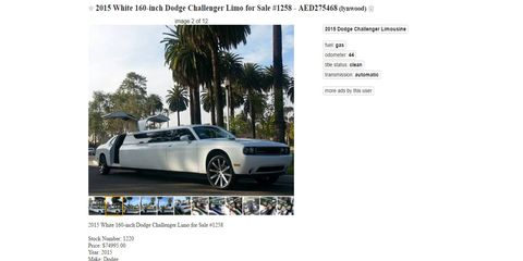 Because who doesn't want a heavier, stretch Challenger with gullwing doors.