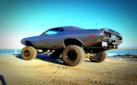 A lifted and trail-ready Dodge Challenger isn't something you see every day.